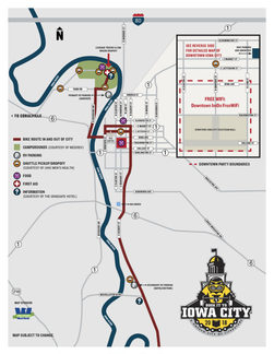 Iowa City RAGBRAI map