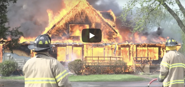 Fire Dept. Recruitment video screen shot