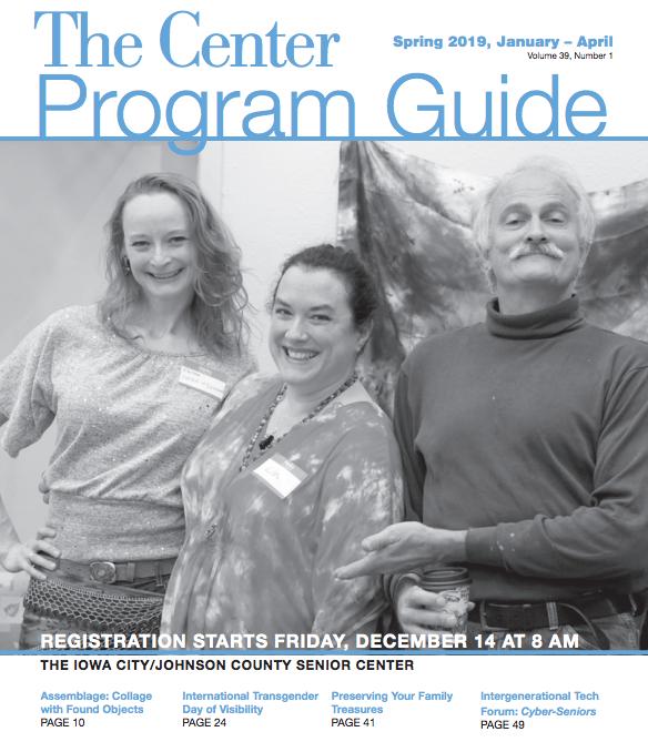 new program guide for the senior center
