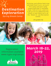 Spring Break Camp 2019