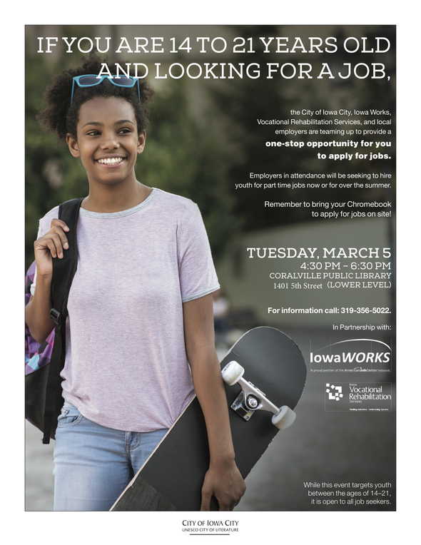 Attend The Youth Job Fair On March 5th Coralville Courier
