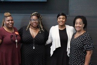 Four women who helped lead the Captivate Conference.