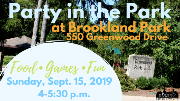 Graphic for Brookland Park Party in the Park on Sept. 15, 2019.