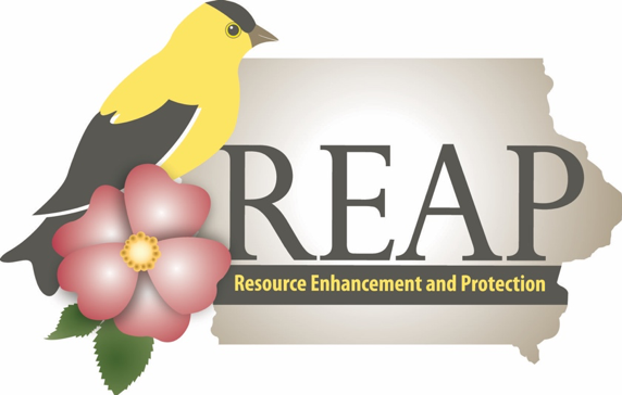 Logo for the Resource Enhancement and Protection program at the Iowa Department of Natural Resoruces.