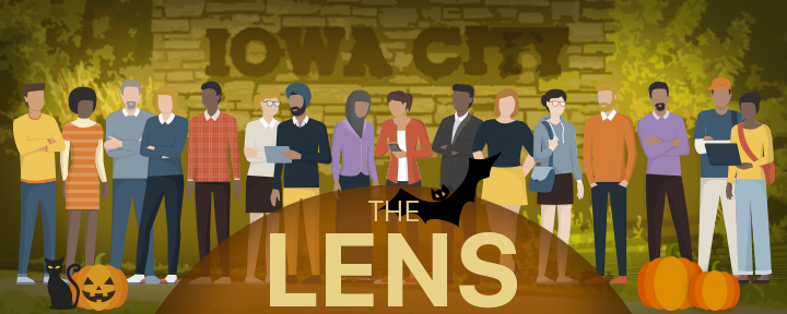 Graphic for The Lens newsletter.