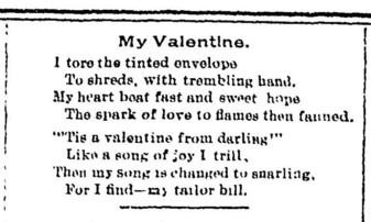 Historical valentine poem