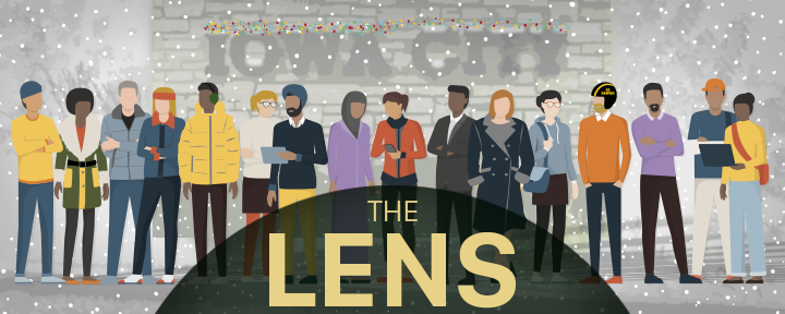Logo for The Lens newsletter