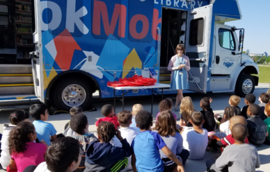 Bookmobile at Alexander Elementary