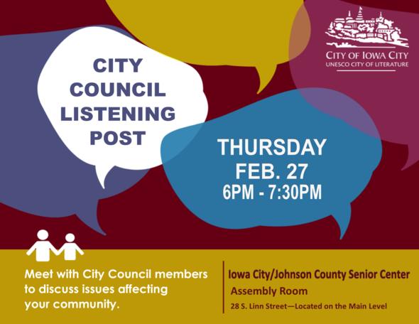 City Council LIstening Post - Senior Center