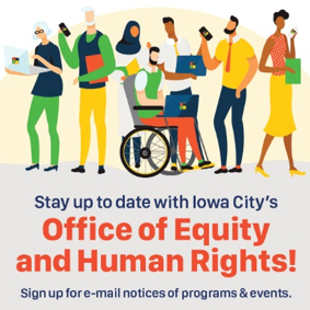 A logo for the Office of Equity and Human Rights.