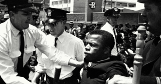 Civil Rights icon John Lewis is shown.