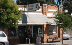 A photo of Marcus Books in San Francisco is shown.
