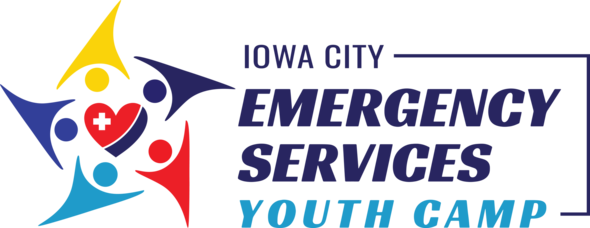 Iowa City Emergency Services Camp logo.