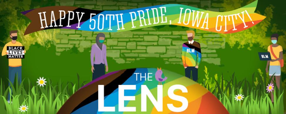 The Lens banner