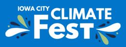 Iowa City Climate Festival logo.
