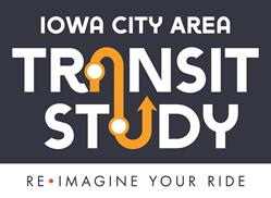 Logo reading Iowa City Area Transit Study: Reimagine Your Ride