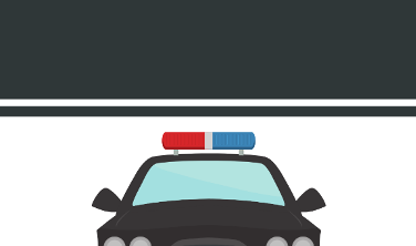 A police car is shown.