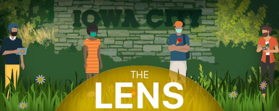 Logo for The Lens newsletter.