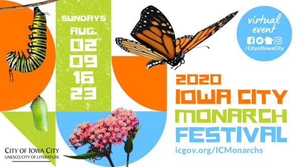 Iowa City Monarch Festival logo.