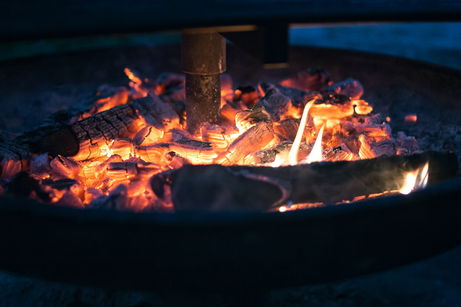 An image of a wood fire is shown.