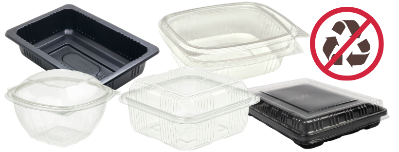 Clamshell plastic containers are shown.