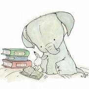 Elephant reading