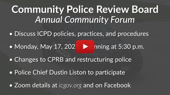 Iowa City Update: Community Police Review Board Forum