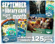 Library Cards to celebrate 125 years PHOTO