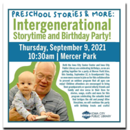 Join us for an Intergenerational Storytime and Birthday Party