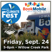 Bookmobile at IC Climate Fest PHOTO