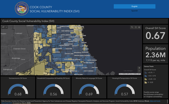 Cook County Social Vulnerability Index Dashboard
