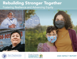 Logo: Cook County 2020 Community Recovery Initiative Impact Report