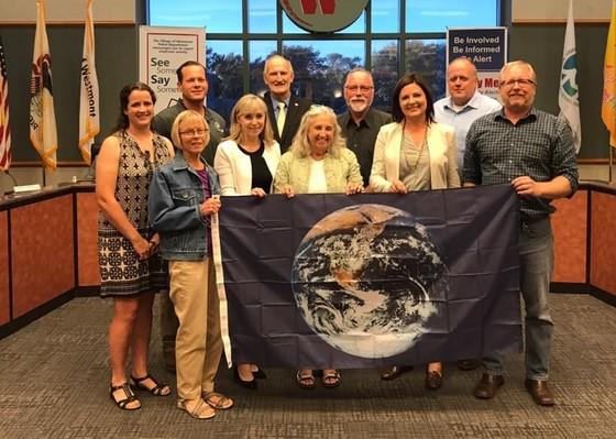 Westmont Earth Flag presentation