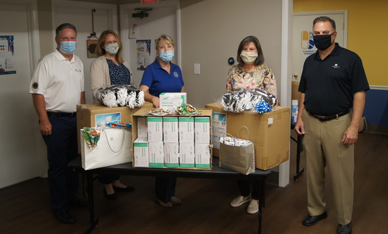 Mask donations