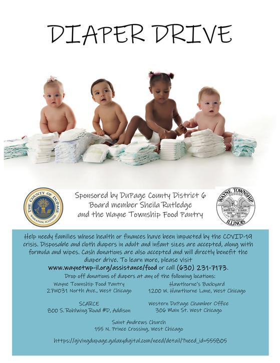 Diaper drive informational flyer