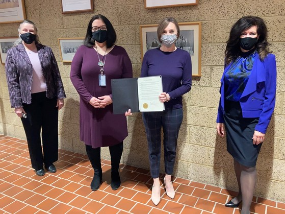 Proclamation honoring Women's History Month