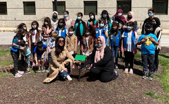 Covert Girl Scouts Tree Planting