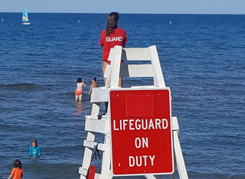Evanston Lifeguard on duty