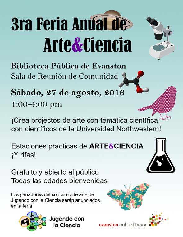 Art and Science fair flyer espanol