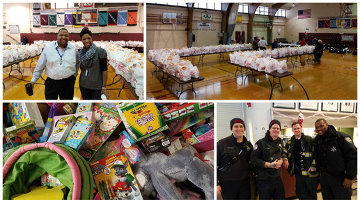 Holiday Food and Toy Drive 2016 collage