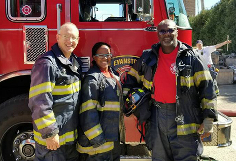 Hagerty, Fleming and Braithwaite at Fire Training