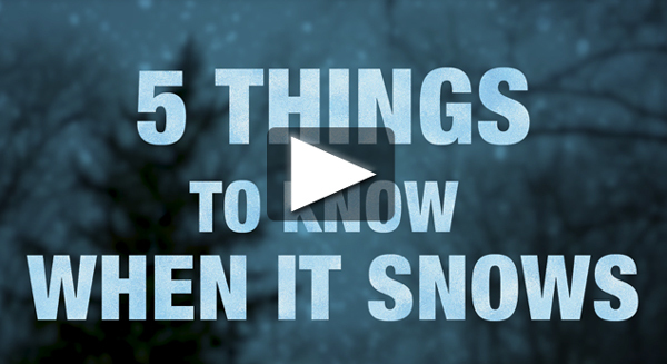 Five Things to Know When It Snows