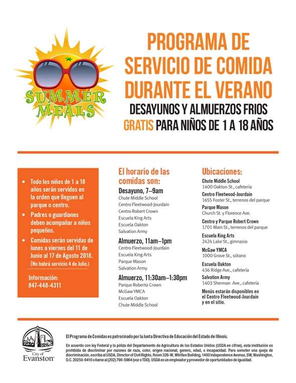 Summer Food program 2018 (spanish)