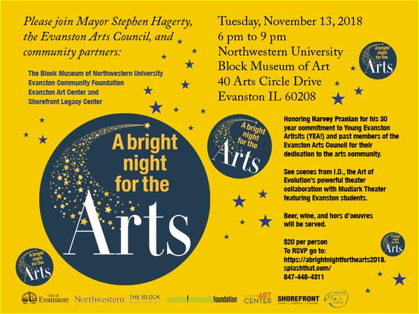 A Bright Night 2018 invitation