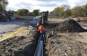 Robert Crown Center construction work