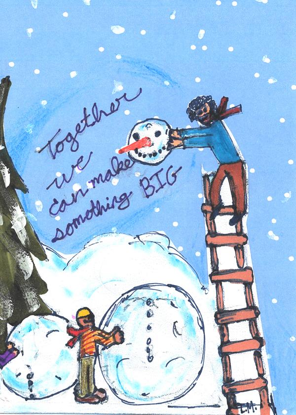 Lee Muir holiday card design