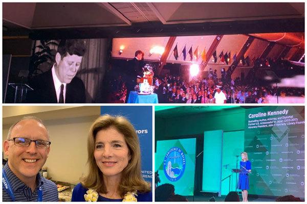 Mayor and Ambassador Kennedy collage