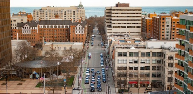 Downtown Evanston - Credit Daily Northwestern