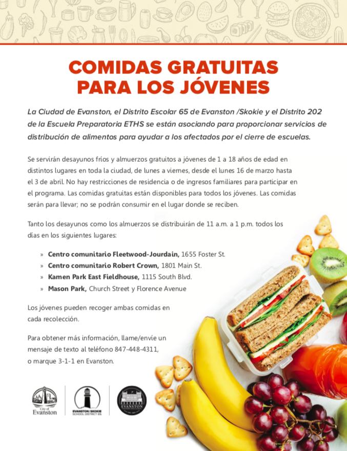 Spanish meals flyer