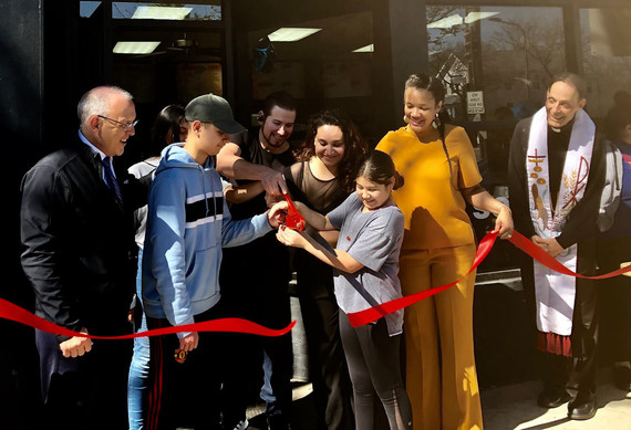Gyros Planet ribbon cutting
